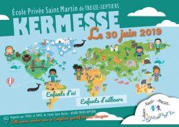 Page 1 du flyer de la kermesse 2019 de l'école