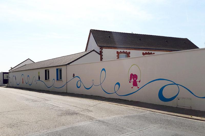 Fresque réalisée coté rue