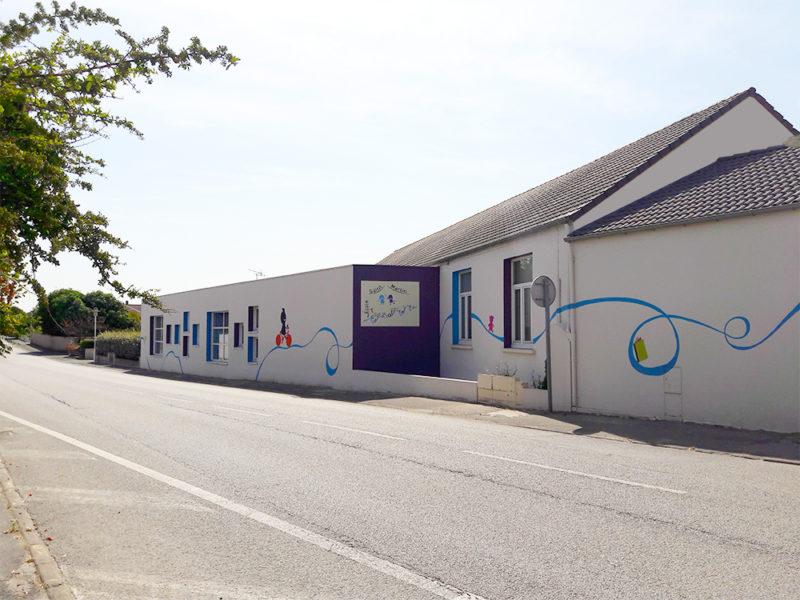 Fresque réalisée coté rue (bis)